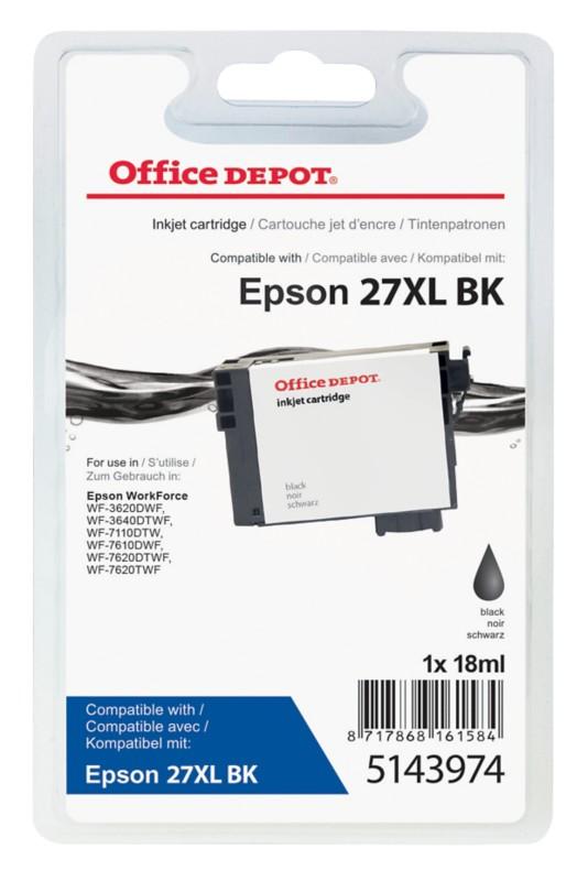 Vorschaubild von Office Depot Kompatibel Epson 27XL Tintenpatrone T271140 Schwarz
