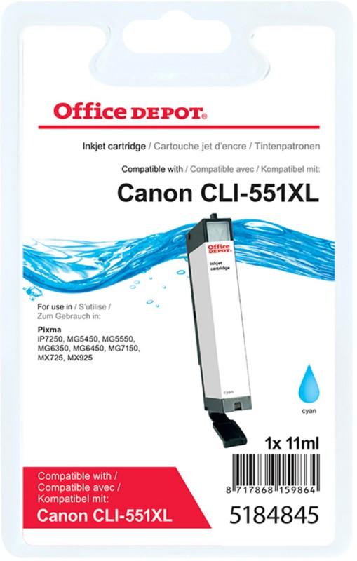 Vorschaubild von Office Depot Kompatibel Canon CLI-551C XL Tintenpatrone Cyan