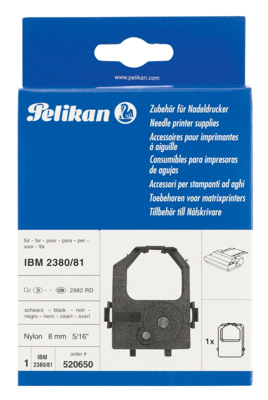Pelikan Kompatibel für IBM HD ASR Schwarz Farbband