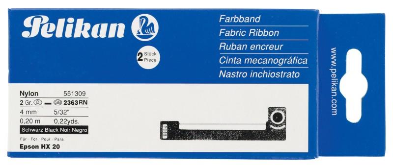 Pelikan Farbband 551309 4 mm Schwarz 2 Stück