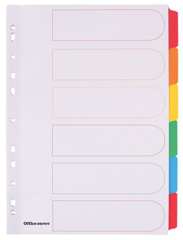 40er Pack Kartonregister A4 8-teilig blanko weiss 4-fach gelocht