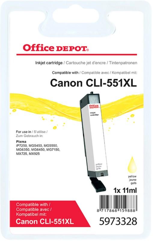 Vorschaubild von Office Depot Kompatibel Canon CLI-551Y XL Tintenpatrone Gelb
