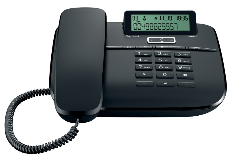 Gigaset Telefon DA610 Schwarz