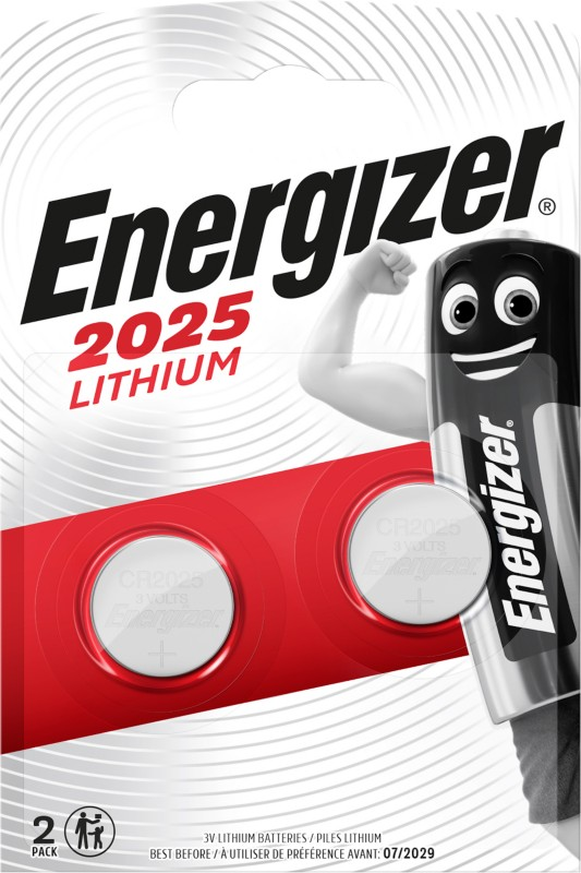 Energizer Knopfzelle Lithium CR2025 Pack 2