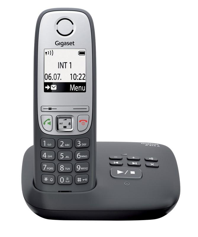 Gigaset DECT Telefon A415A Schwarz