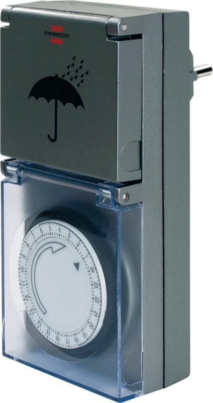 brennenstuhl Zeitschaltuhr MZ 44 IP 44 Silber