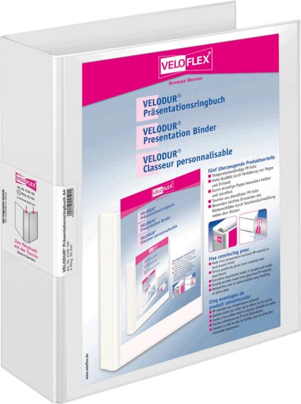 Veloflex Visitenkartenringbuch Visitenkarten 145 x 225 mm 4-Ring 12-tlg Register