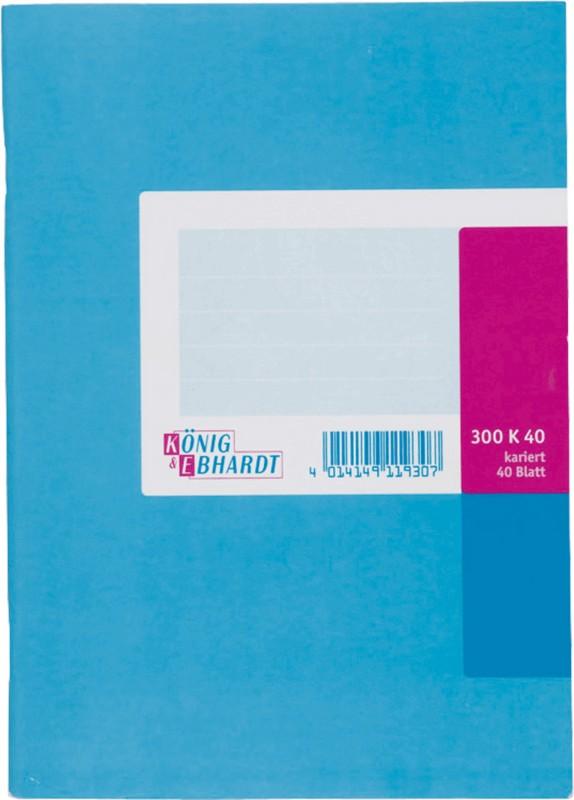 K+E Geschäftsbuch DINA5 / 8615211-300K40 hellblau kariert Inh. 4 bei Viking - Büroartikel