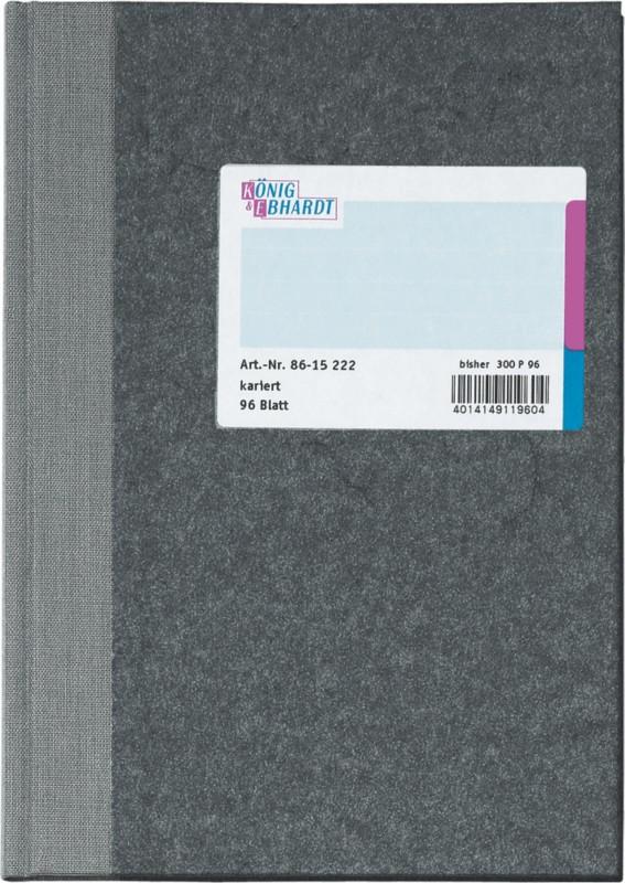 K+E Geschäftsbuch DINA5 / 8615222-300P96 hellblau kariert Inh. 9 bei Viking - Büroartikel