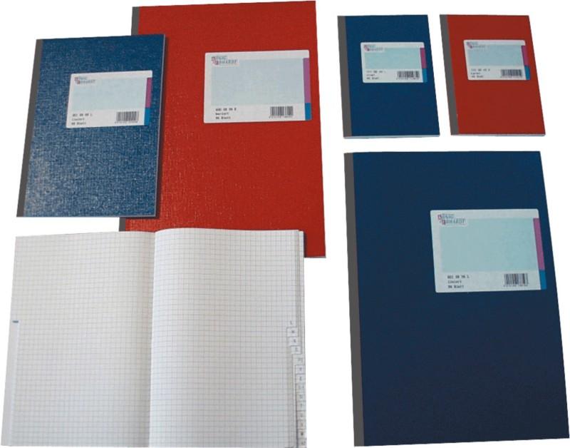 K+E Kladde DINA6 / 8616272-100SB96 rot kariert 70g/m² Inh. 96 Bl bei Viking - Büroartikel