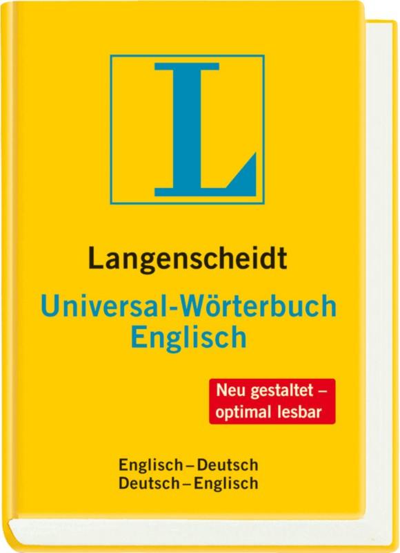 Langenscheidt Wörterbuch Englisch-Deutsch/ Deut...