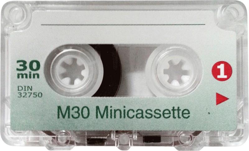 WMC Mini Diktierkassetten / 24100/1-005 2 x 15 Minuten