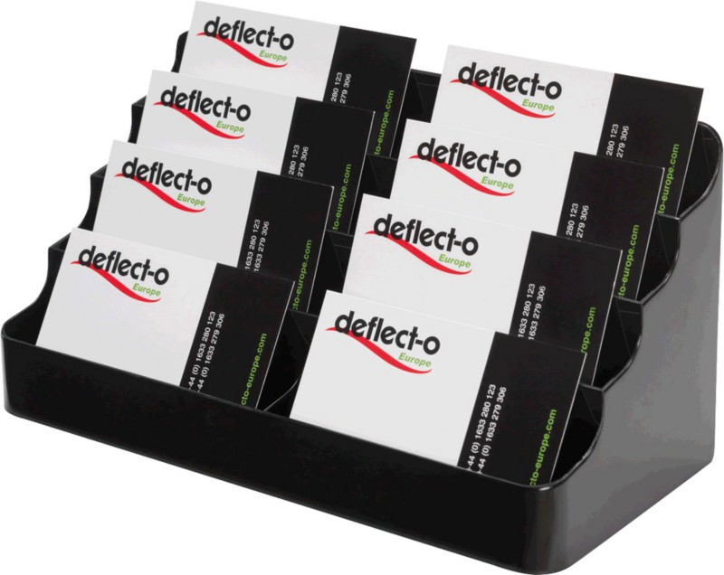 Deflect-o Visitenkartenhalter/DE70804 schwarz 1...