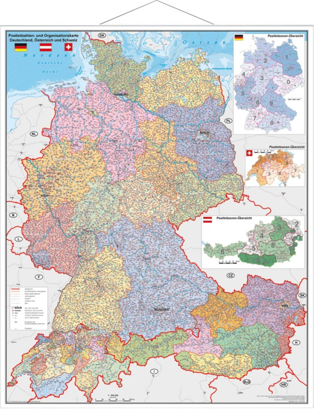 Stiefel PostLeitzahlen-Organisationskarte/97838...