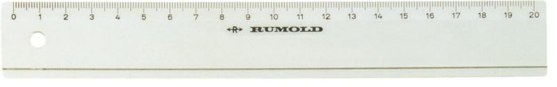 Rumold Schul-und Industrielineale FL420-30 transparent Kunststoff 30cm