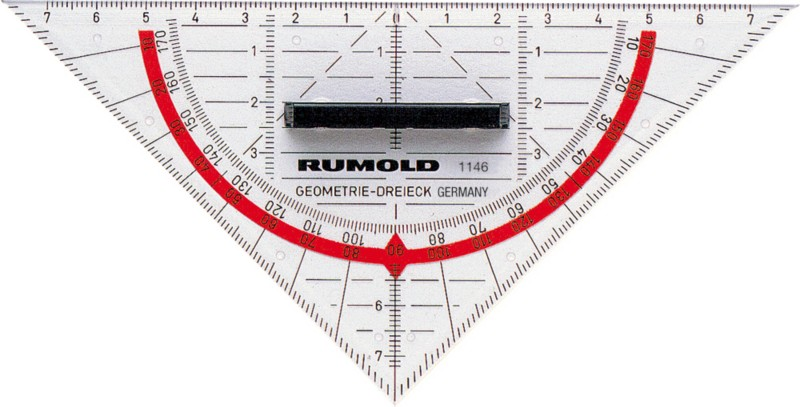 Rumold TZ- und Geometriedreieck 1146 Kunststoff 16cm