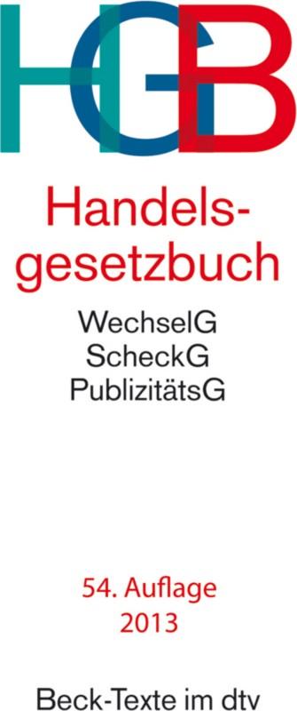 HGB Handelsgesetzbuch/9783423050029