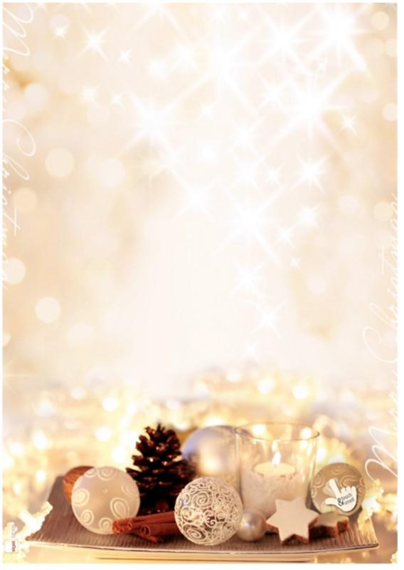 Sigel Weihnachtsbriefpapier Zimtsterne DIN A4 9...