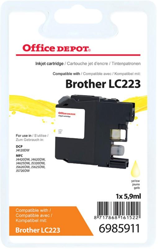 Vorschaubild von Office Depot Kompatibel Brother LC223Y Tintenpatrone Gelb