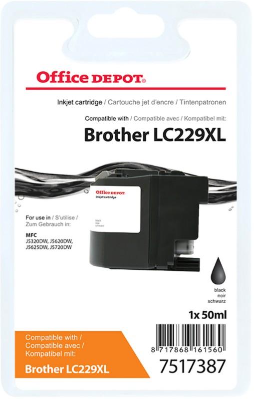 Vorschaubild von Office Depot Kompatibel Brother LC229XL Tintenpatrone Schwarz