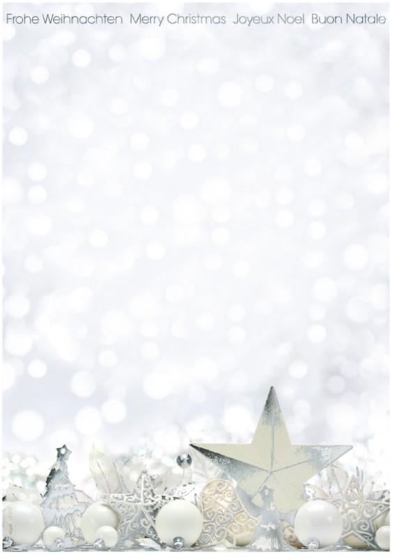 Sigel Weihnachtsbriefpapier White Stars DIN A4 ...