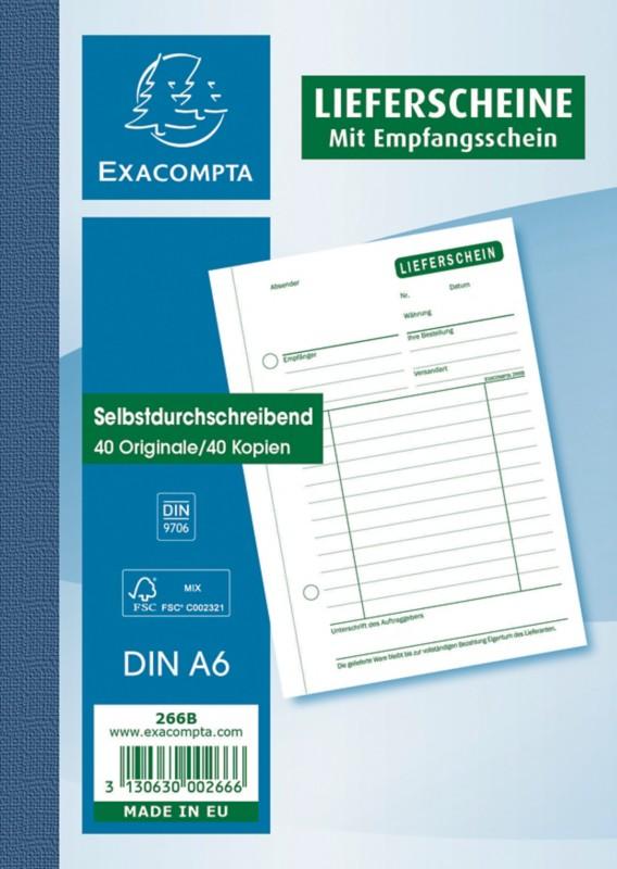 Exacompta Lieferscheine DIN A6 2 x 40 Blatt