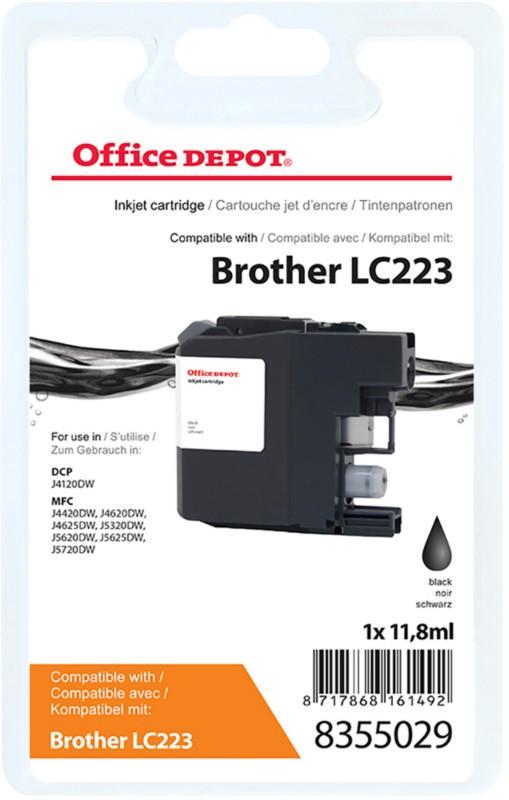 Vorschaubild von Office Depot Kompatibel Brother LC223BK Tintenpatrone Schwarz
