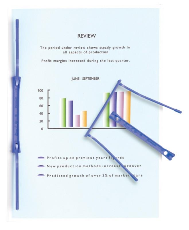 Stewart Superior Archiv-Clips Blau Kunststoff 2...