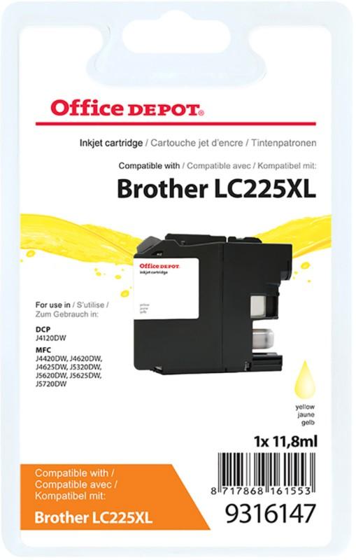 Vorschaubild von Office Depot Kompatibel Brother LC225XL Tintenpatrone Gelb