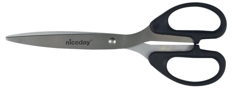 Niceday Edelstahlschere Schwarz 210 mm