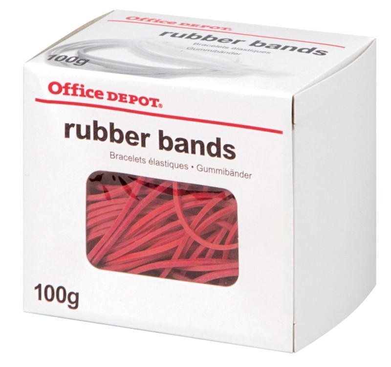 Office Depot Gummiringe Rot 100 x 2 mm 100 g