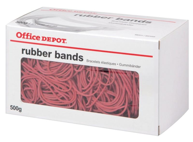 Office Depot Gummiringe Rot 50 x 2 mm 500 g