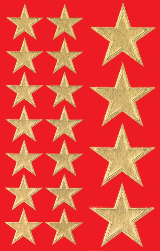 Sigel Golden star Weihnachtssticker 54 Stück