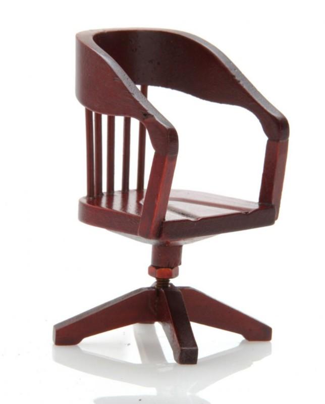 alter Holz-Schreibtischstuhl wie von Ten Eyck