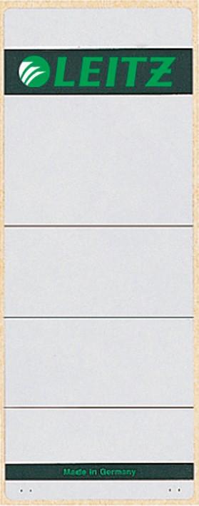 Leitz Rückenschilder Kurz 1647 80 Mm 61 X 157 Mm Weiß Grau 10 Stück