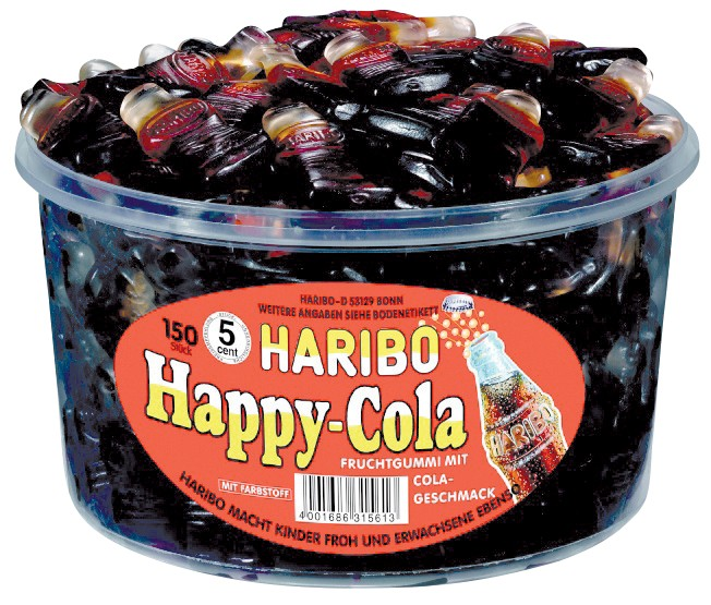Haribo Fruchtgummi Happy-Cola 150 Stück