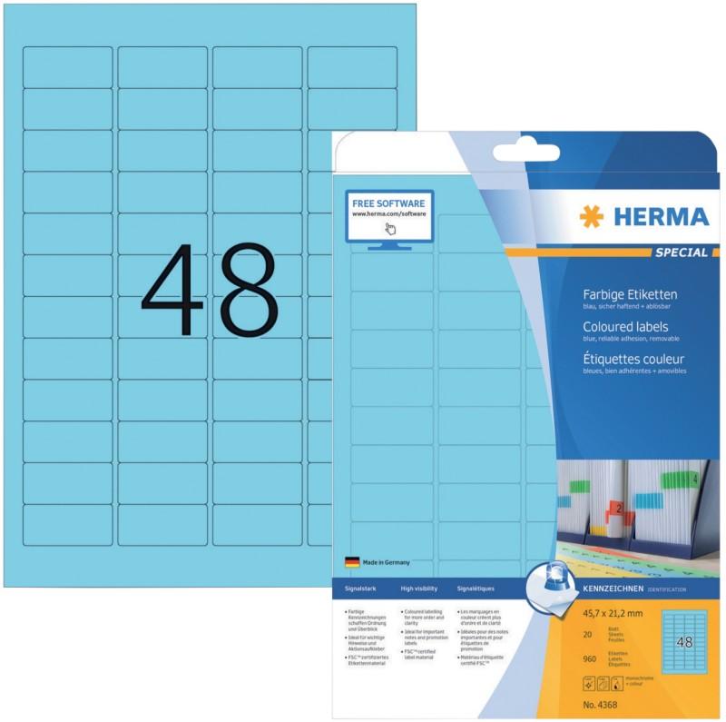 HERMA Blau 960 Stück Pack 960
