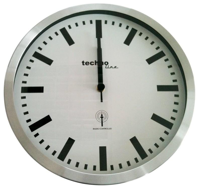 TechnoLine Funkwanduhr WT8610 Grau