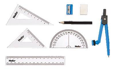 Rulers, Protractors & Compasses