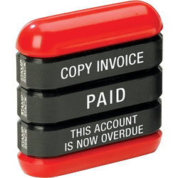 dormy 3 in 1 stamp paid copy invoice this account is overdue each