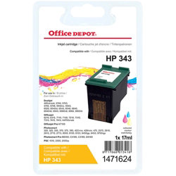 Office Depot Compatible for HP 343 3 Colours Ink Cartridge C8766EE