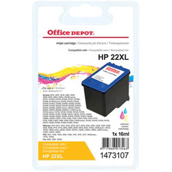 Office Depot Compatible for HP 22 3 Colours Ink Cartridge C9352CE