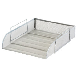 Office Depot Executive Mesh Front Loading Letter Tray  Silver
