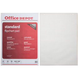 Office depot a1 flipchart pads grid by viking