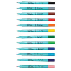 Berol Colour Fine Pens 0.6mm Line Width (Black) Pack of 12 Pens S0376300