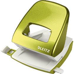 Leitz  NeXXt Series WOW Metal Office 2 Hole Punch  Metallic Green  30 sheets