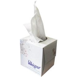 FACIAL TISSUE CUBE BOX 2 PLY WHITE 70 SHEETS BOX OF 24