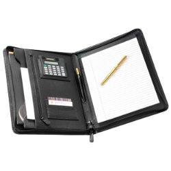 Falcon Leather A4  Folder with Calculator