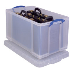Really Useful Boxes Storage Box 84CCB 84 L Clear Plastic 380 x 440 x 710 mm