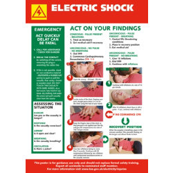 Health & Safety Poster  Electric Shock Treatment